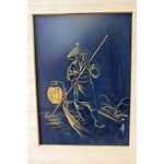 Image of 1960s Japanese Brush Paintings - A Pair