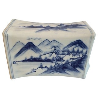 Blue and White Chinese Incense Burner Box