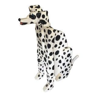 1980s Folk Art Dalmation Dog Sculpture by Kohm