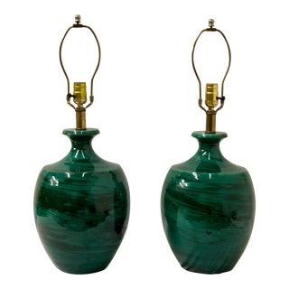 Pair of Italian Bitossi Art Pottery Lamps