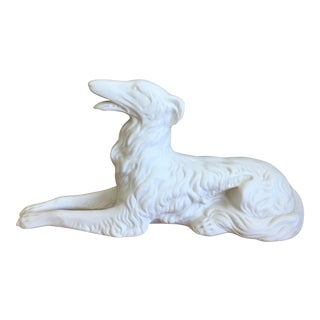Vintage Bisque Porcelain Greyhound/Whippet