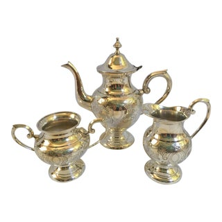 English Silverplate Coffee Service - Set of 3