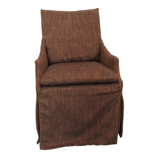 Contemporary Style Custom Fabric Skirted Slipper Chair