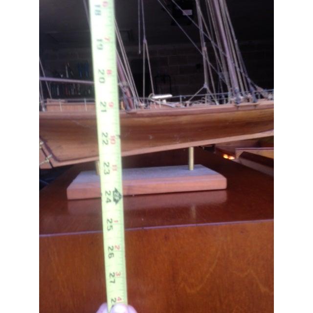 Wood Model Boat - Image 3 of 10