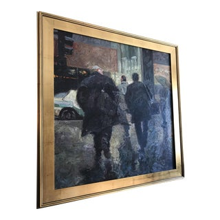 Robert Brasher Rush to Rush Oil Painting