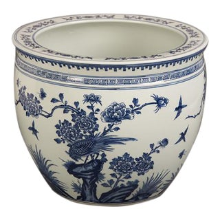 Chinese Blue and White Glazed Fish Bowl