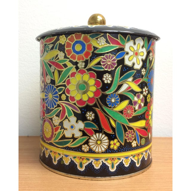 Boho English Colorful Tin Container - Image 3 of 6
