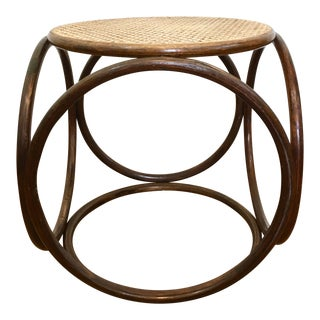 Bentwood Cane Thonet Style Ottoman