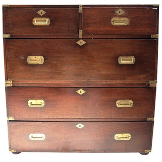 18th-C. English Military Campaign Chest