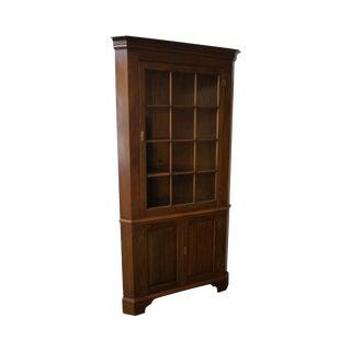 Henkel Harris Large Mahogany 12 Pane Chippendale Style Corner Cabinet