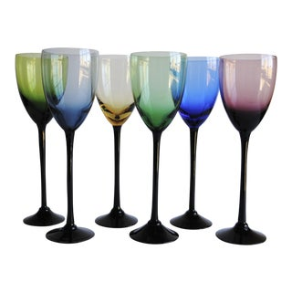 Long Stem Wine Glasses, Set of 6