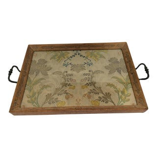 Antique Textile Display Tray