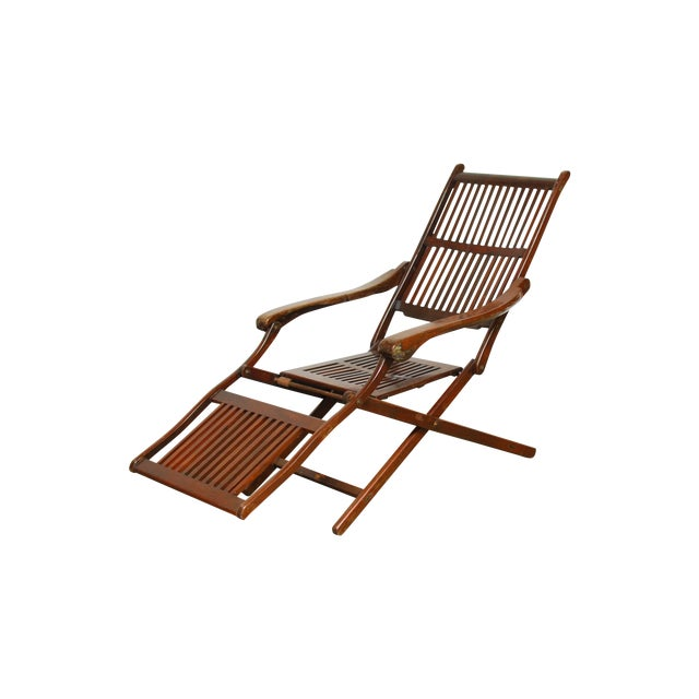 Antique Ocean Steamer Deck Chair - Image 1 of 7
