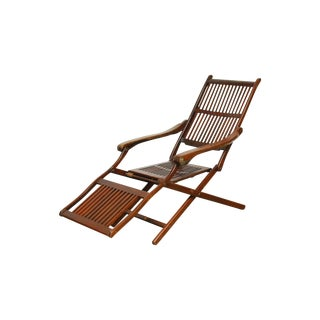 Antique Ocean Steamer Deck Chair