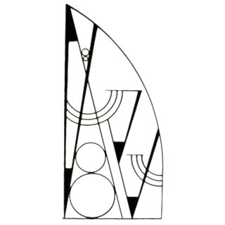 Art Deco Hammered Iron Screen