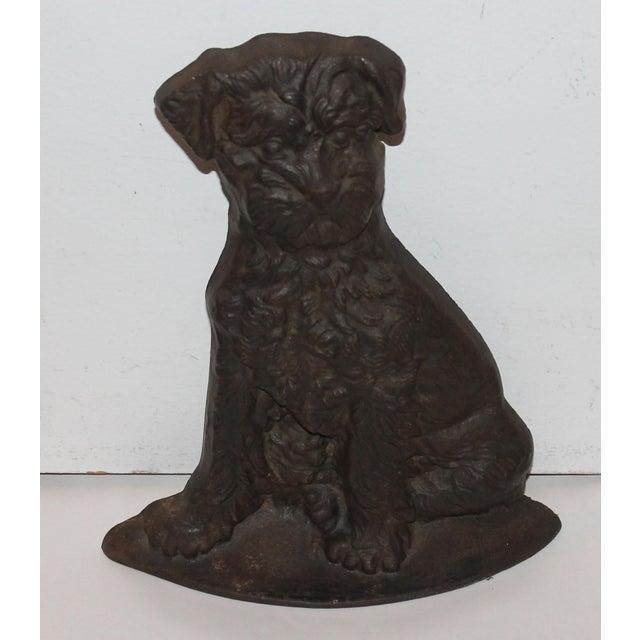 Monumental 19Thc Cast Iron Dog - Image 2 of 6