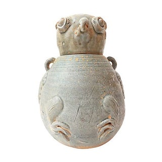 Song Yuan Dynasty-Style Celadon Bird Jar