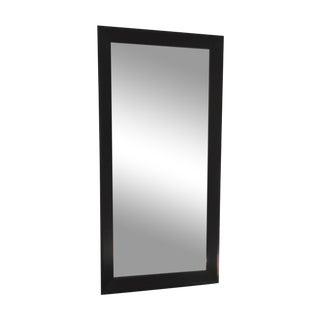 Crate & Barrel Black Floor Mirror