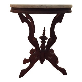 Marble Top Victorian Side Table