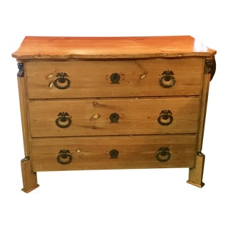 Antique Gustavian Inspired Pine Chest