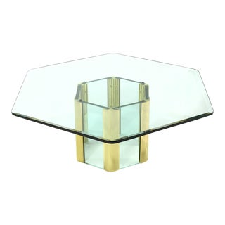 Pace Coffee Table with Hexagonal Designed by Leon Rosen