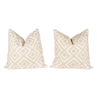 Light Gray David Hicks Fiorentina Pillows - A Pair