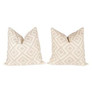 Light Gray David Hicks Fiorentina Pillows - A Pair