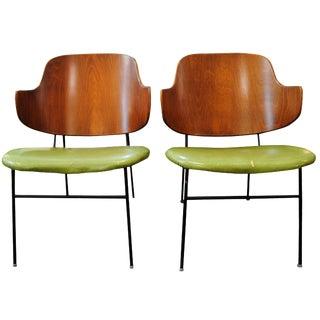 Kofod Larsen Penguin Lounge Chairs - A Pair