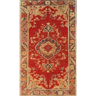 "Vintage Turkish Anatolian Wool Rug - 3'1"" x 5'4"""
