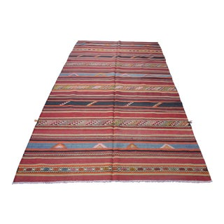 Turkish Kilim Rug- 6′ × 9′6″