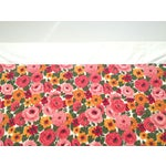 Image of Vintage 1960s Pink Floral Curtain