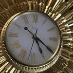 Image of Mid Century Syroco Gold Sunburst Wall Clock