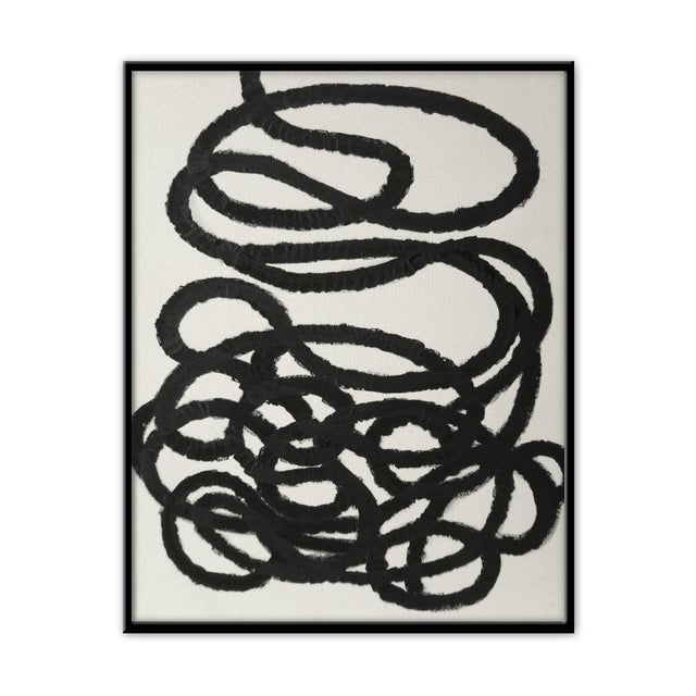 """Abstract Squiggle No. 2 Original Painting - 40"""" x 50"""" - Image 2 of 5"""