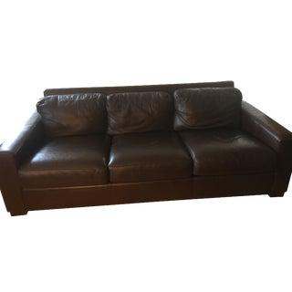 "Design Within Reach 84"" Portola Leather Sofa"