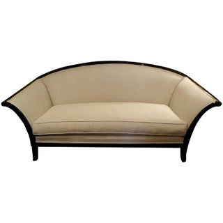 Vintage French Black Laquered Sofa