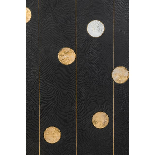 Art Wall Panel with Texture and Rock Crystal by Paul Marra - Image 2 of 11