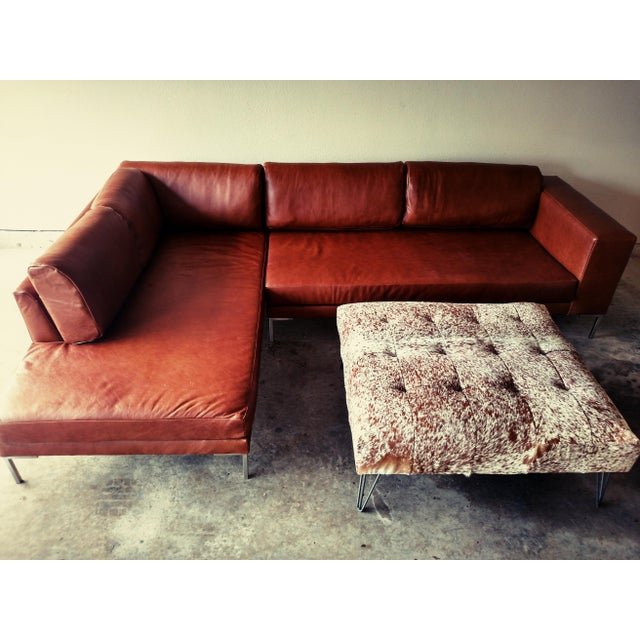 Gambrell Renard Leather Sofa Chaise Sectional - Image 5 of 5