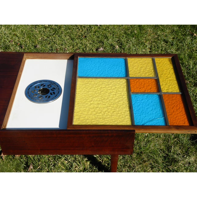 Mid-Century Coffee Table W/ Built-In Fondue Stove - Image 6 of 8