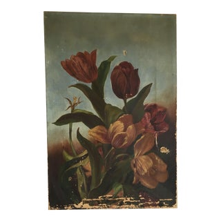 Antique Floral Oil Painting From Ralph Lauren Antique Collections