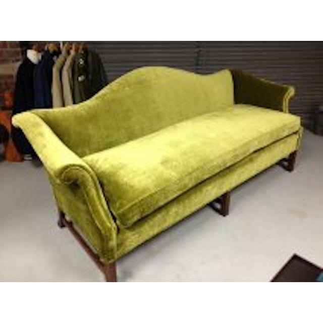 Vintage Green Velvet Sofa Chairish