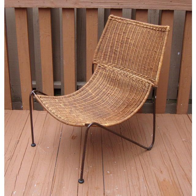 MCM Modern Wicker Iron Frederick Weinberg Chair - Image 2 of 10