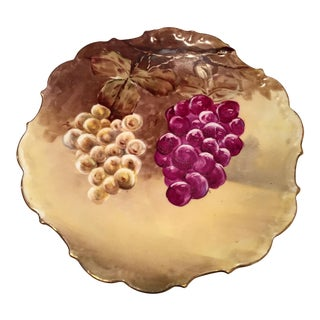 Limoges Grape Design Plate