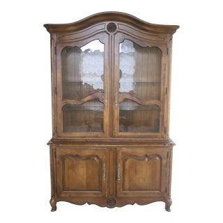 Ethan Allen Country French China Cabinet and Buffet