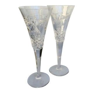 Waterford Crystal Champagne Flutes - A Pair