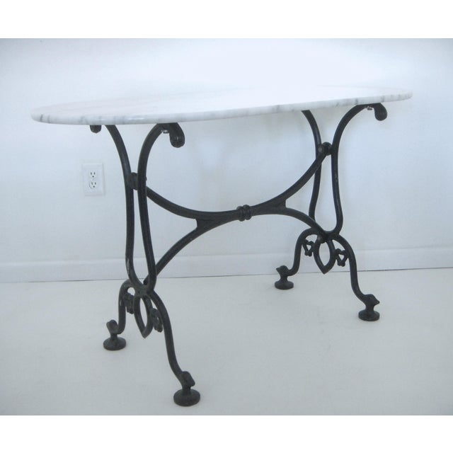 White Italian Marble Console/Bistro/Dining Table - Image 2 of 8