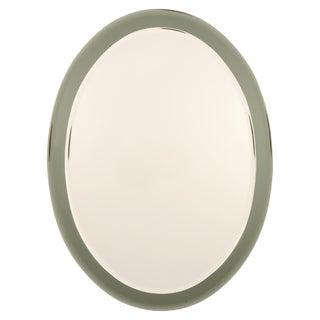 Fontana Arte Italian Oval Beveled Wall Mirror