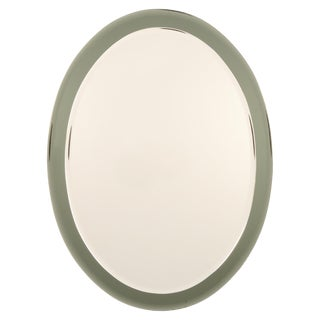Italian Oval Beveled Wall Mirror in the Style of Fontana Arte