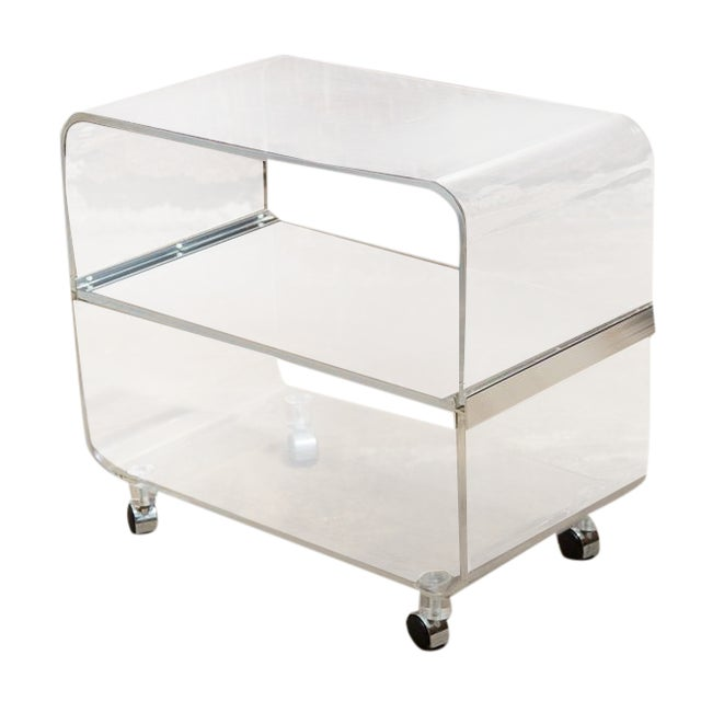 Lucite Bar Cart - Image 1 of 9