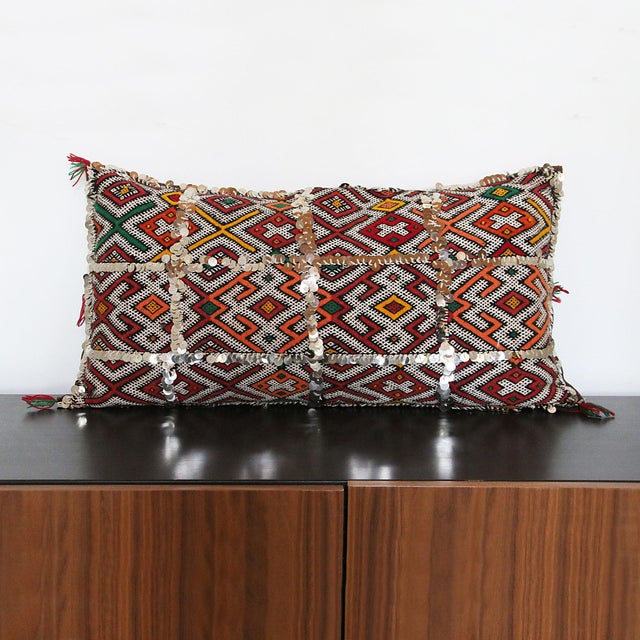 Handcrafted Moroccan Kilim Pillow I - Image 2 of 7