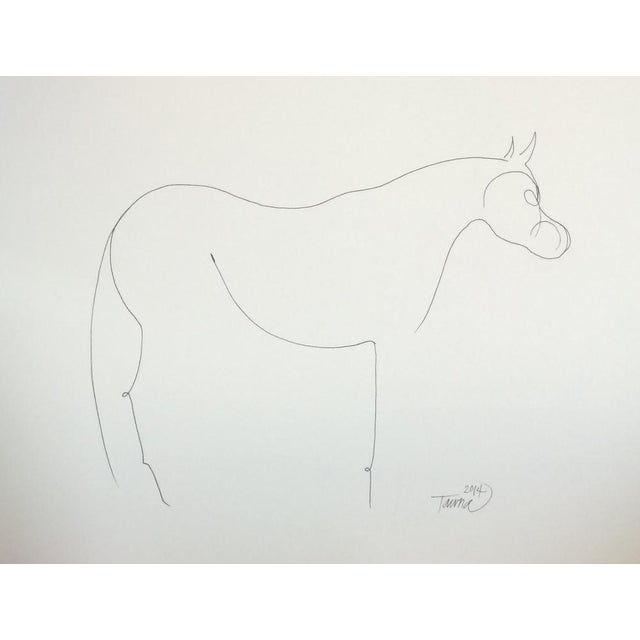 """The Horse"" Original Ink Drawing - Image 1 of 3"